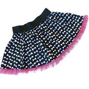 Disney Tulle Minnie Bow Skirt Black Pink Elastic